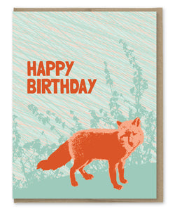 FOXY BIRTHDAY CARD