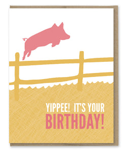 HOG WILD BIRTHDAY CARD