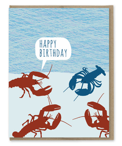 FREAK LOBSTER BIRTHDAY CARD