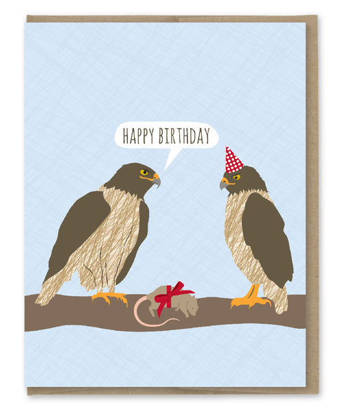HAWKS AWESOME BIRTHDAY CARD