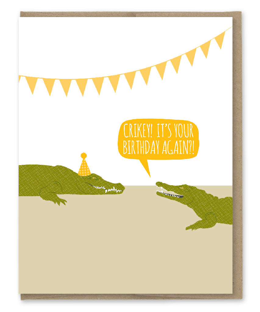 CRIKEY BIRTHDAY CARD