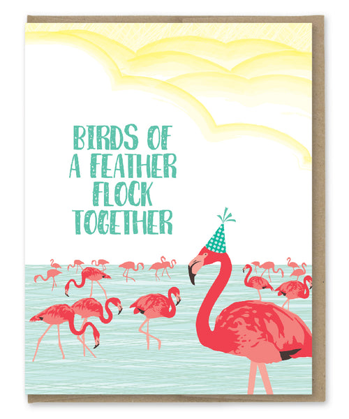 BIRDS OF A FEATHER BIRTHDAY CARD
