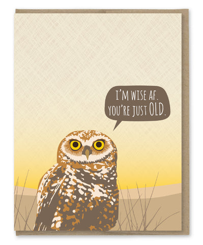 OWL WISE AF BIRTHDAY CARD