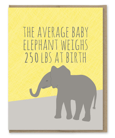 AVERAGE BABY ELEPHANT CARD