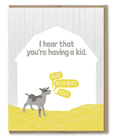 HAVING A KID CARD
