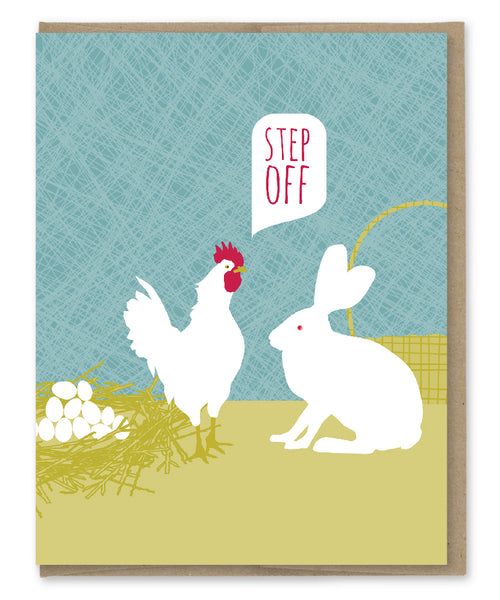 STEP OFF EASTER CARD