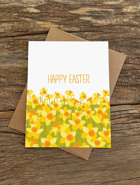 EASTER DAFFODILS CARD