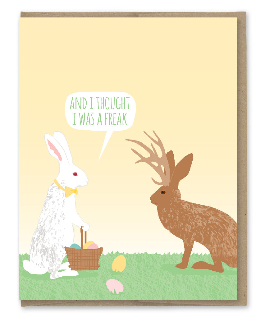 JACKALOPE EASTER CARD