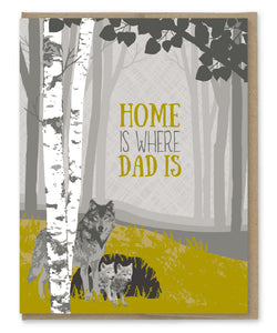 HOME IS WHERE DAD IS CARD