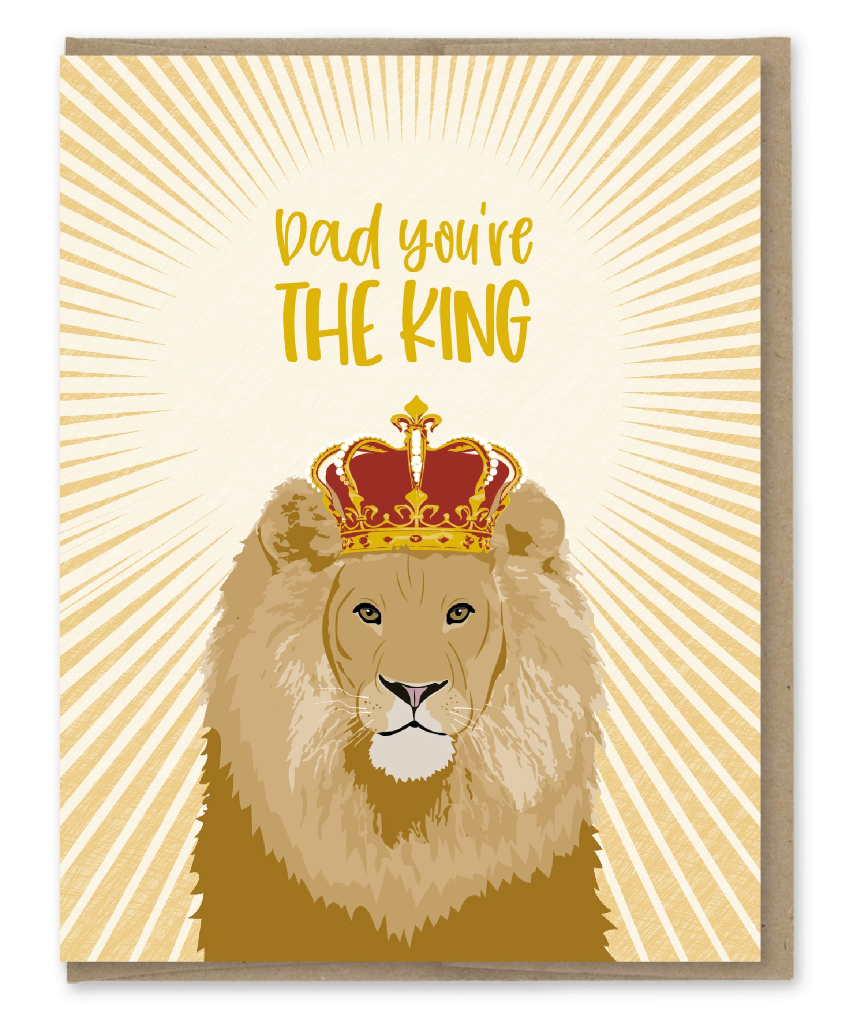 DAD THE KING CARD