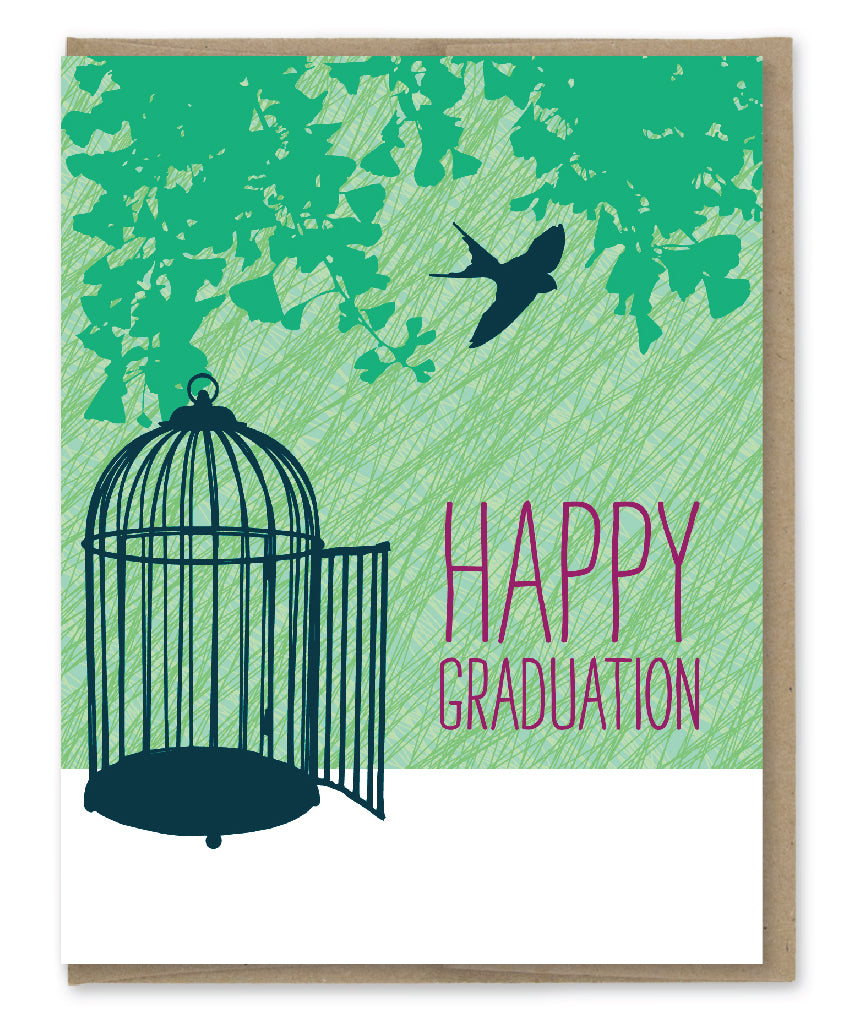 YOU'RE FREE GRADUATION CARD
