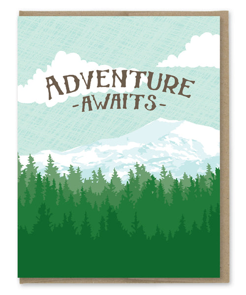 ADVENTURE AWAITS GRADUATION CARD
