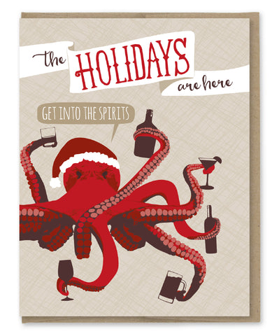 INTO THE SPIRITS HOLIDAY CARD