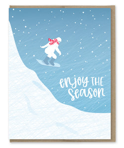 YETI SNOWBOARD HOLIDAY CARD