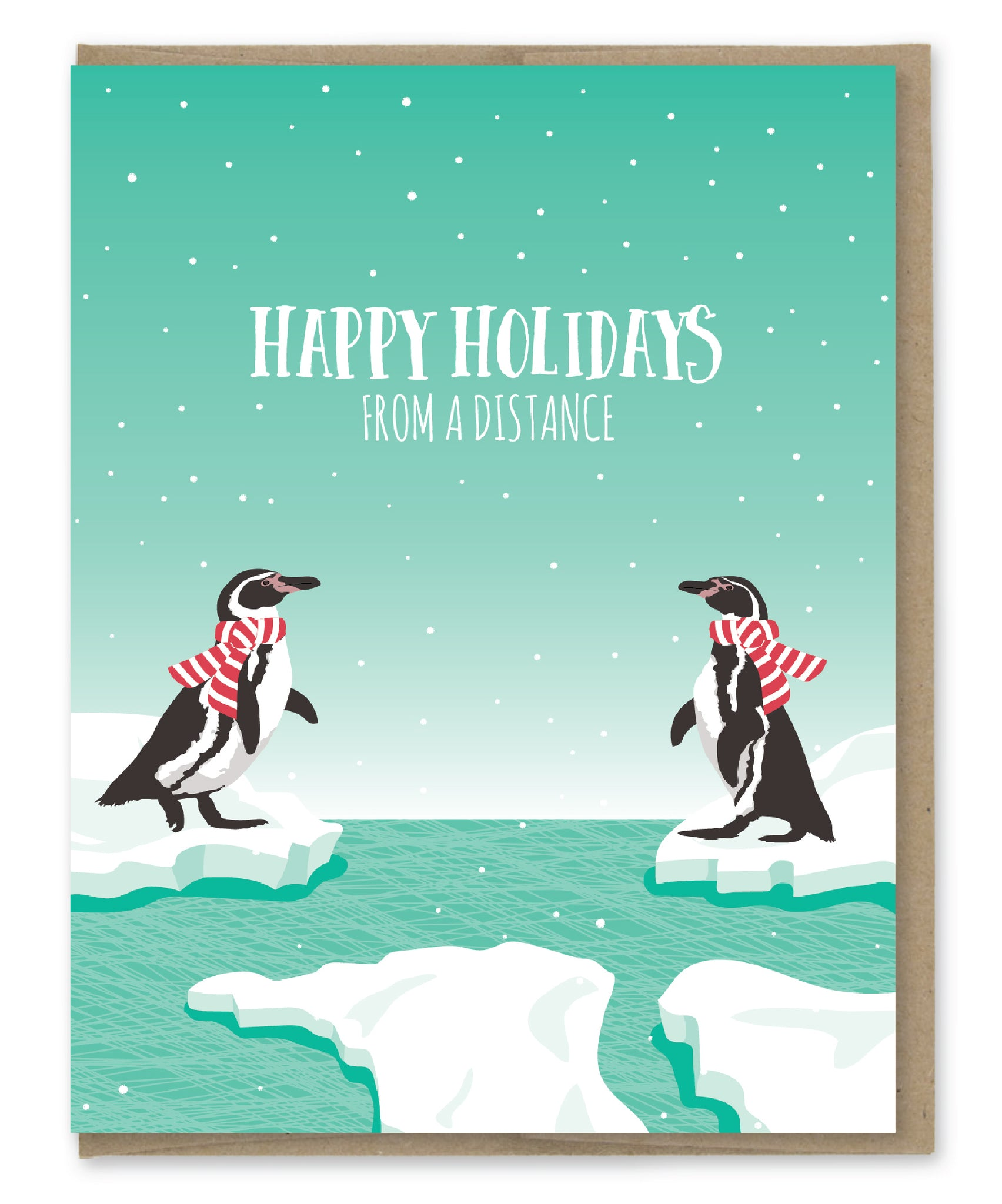 PENGUINS DISTANCE HOLIDAY CARD