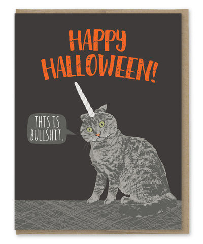 UNICORN CAT HALLOWEEN CARD