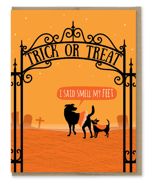 SMELL MY FEET HALLOWEEN CARD