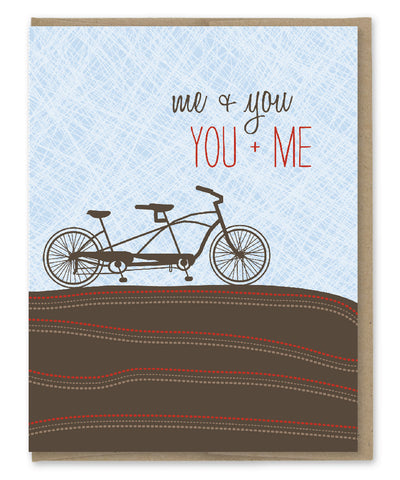 TANDEM YOU + ME LOVE CARD