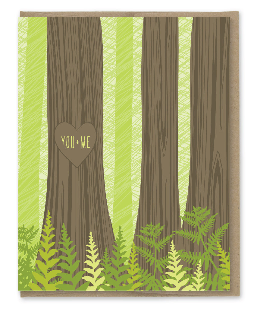 YOU + ME TREE CARVING CARD