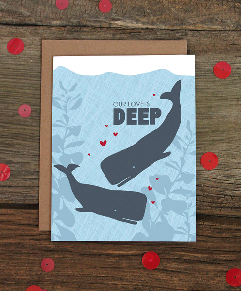 OUR LOVE IS DEEP CARD
