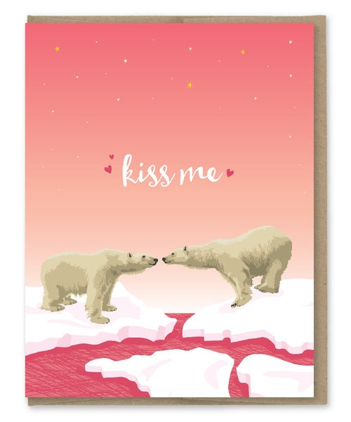 KISS ME BEAR CARD