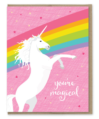 YOU'RE MAGICAL UNICORN CARD