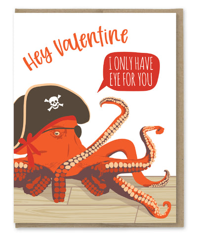 EYE FOR YOU PIRATE LOVE CARD