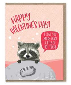 RACCOON HOT TRASH LOVE CARD