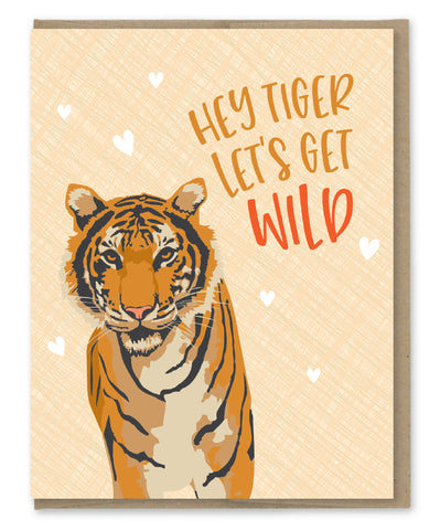 TIGER WILD LOVE CARD