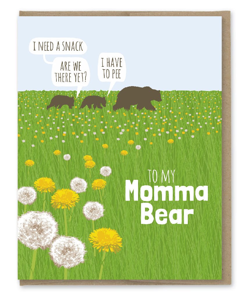 MOMMA BEAR CARD