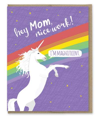 MOM MAGNIFICENT UNICORN CARD