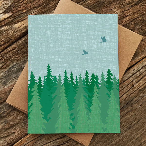 EVERGREEN BLANK CARD