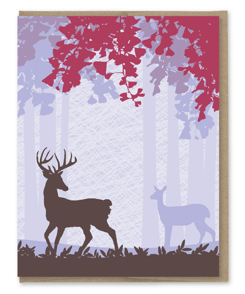 WOODLAND DEER BLANK CARD