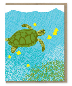 SEA TURTLE BLANK CARD