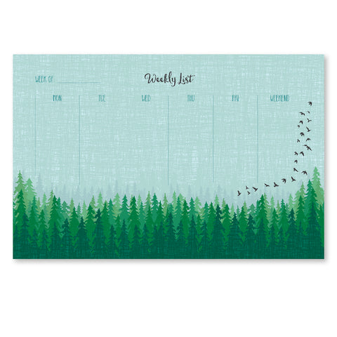 FOREST WEEKLY NOTEPAD