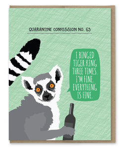LEMUR QUARANTINE CONFESSION CARD