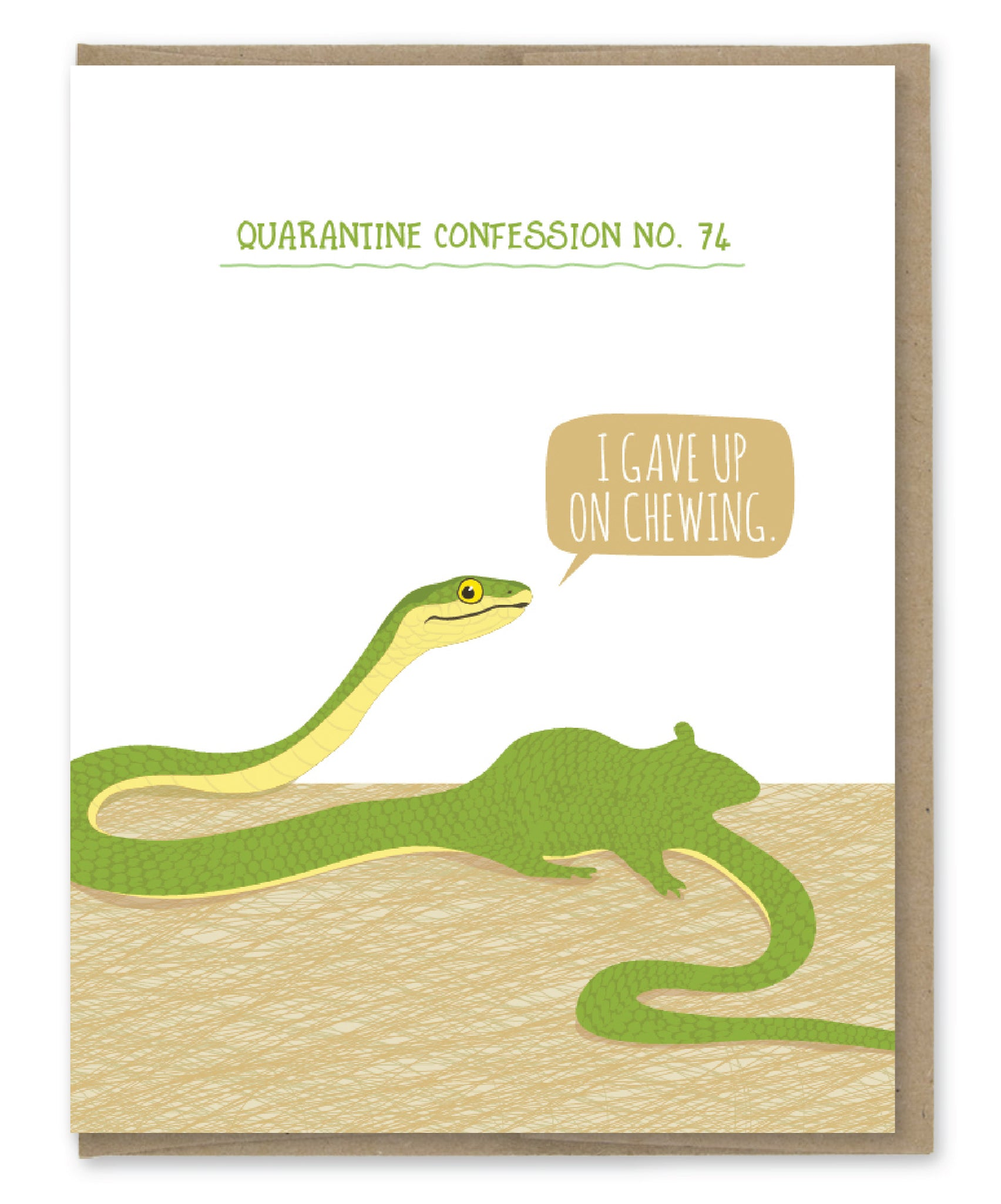 SNAKE QUARANTINE CONFESSION CARD