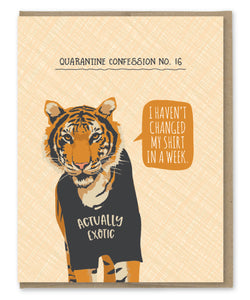 TIGER QUARANTINE CONFESSION CARD