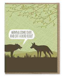 DEAD BIRD THANKSGIVING CARD
