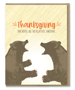 RELATIVES THANKSGIVING CARD