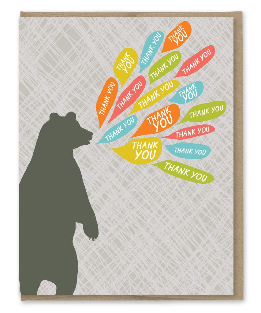 THANK YOU BEAR CARD