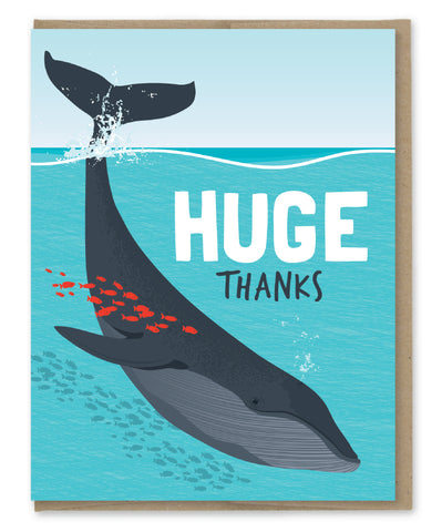 HUGE THANKS WHALE CARD