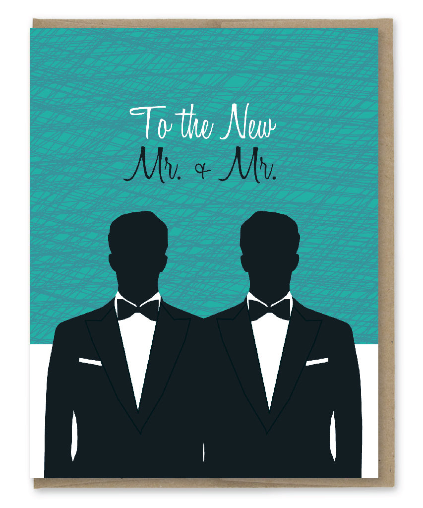 MR + MR WEDDING CARD