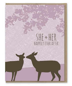 SHE + HER DOES WEDDING CARD