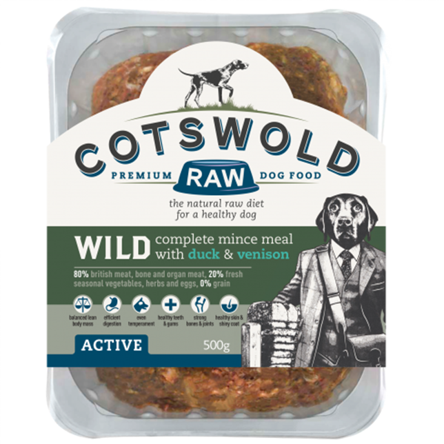 Cotswold RAW Active 80/20 Wild Range Mince with Duck & Venison - Complete