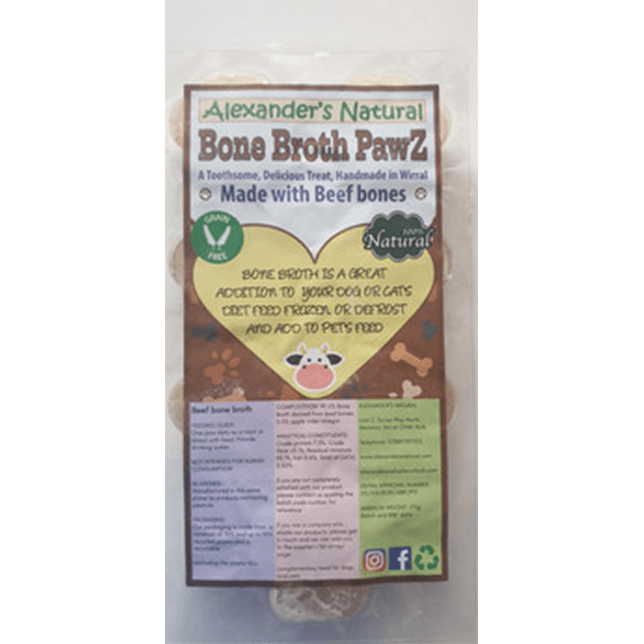 Alexander's Natural Bone Broth Paws - Various Flavours