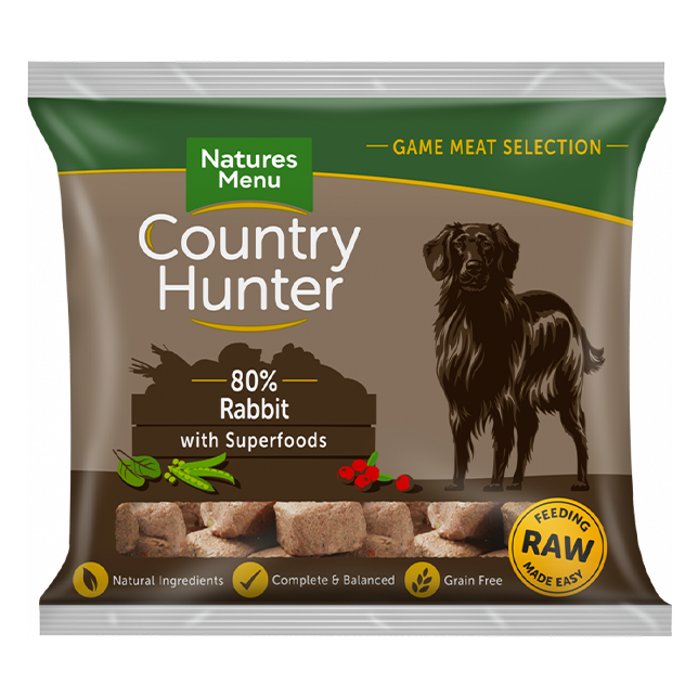 Country Hunter Raw Nuggets - Rabbit with Superfoods for Adult Dogs