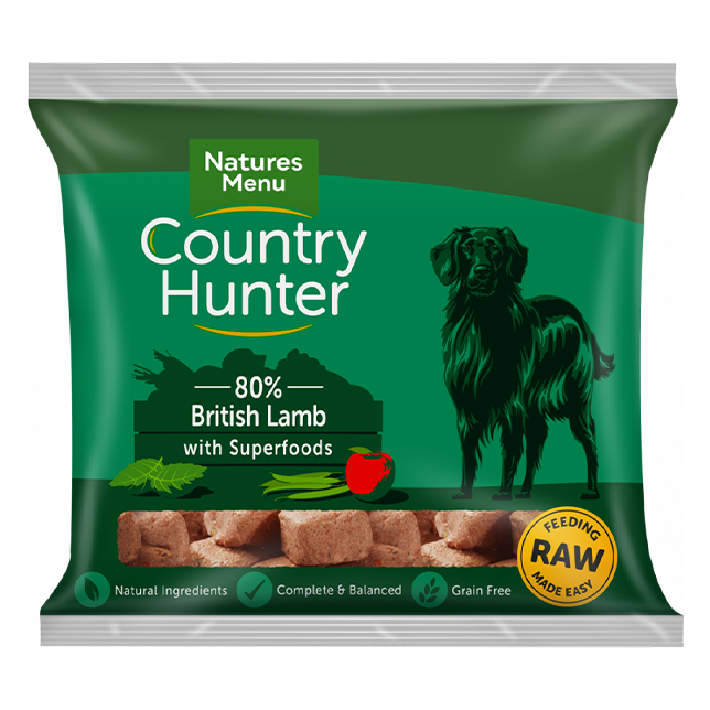 Country Hunter Raw Nuggets - British Lamb with Superfoods for Adult Dogs