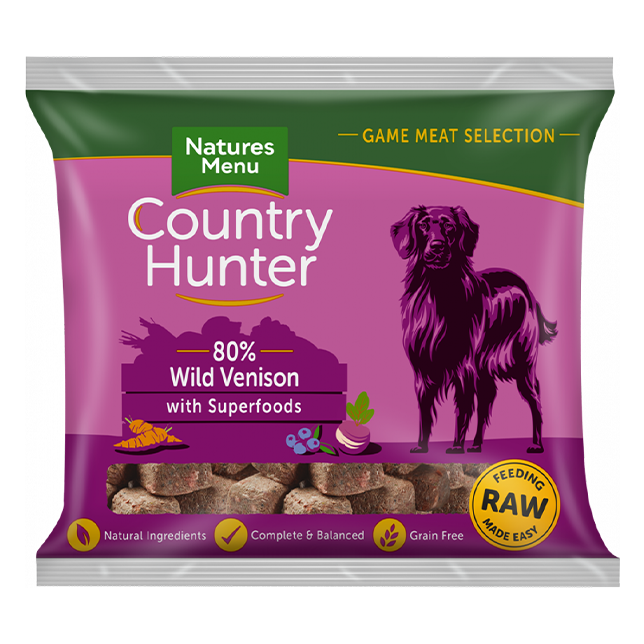 Country Hunter Raw Nuggets - Wild Venison with Superfoods for Adult Dogs