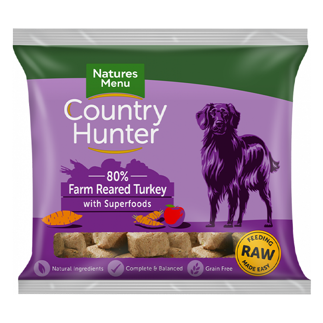 Country Hunter Raw Nuggets - Farm Reared Turkey with Superfoods